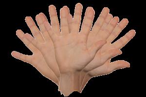 een zwaaiende hand