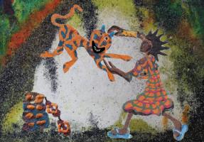 Akuba Sika het Afrikaanse kind met gouden arm
