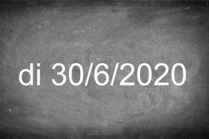 schoolbord met datum 30/6/2020