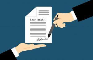 Ondertekening van een contract