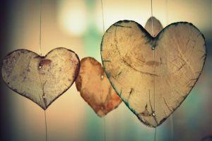 houten hartjes