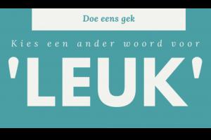 titel van poster : woordje leuk