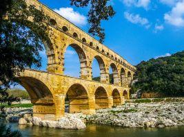 the Pont du Gard, an aqueduct