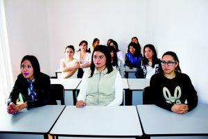meisjes in klas