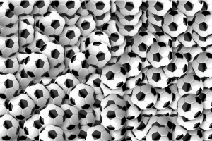 voetballen door elkaar