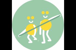 tekening van twee figuurtjes met flexabanden