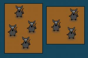 Vierkant met muizen en rechthoek met muizen