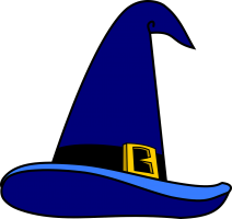 blue magic hat