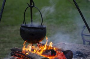 Boiler above fire