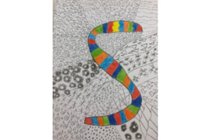 Decorated letter S