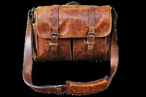 leather bookbag