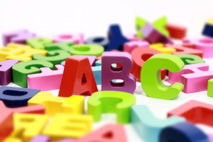 colored letters of the alphabet