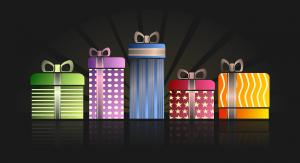 Verschillende cadeautjes met andere vormen en kleuren