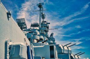kanonnen van een oorlogsschip
