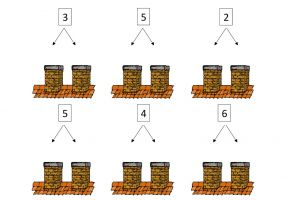Screenshot worksheet splits with images of chimneys and exercises