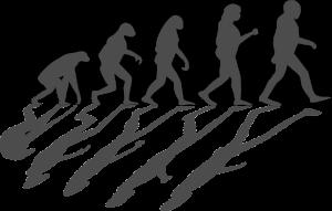 evolutie van de mens voorgesteld