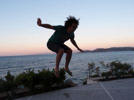 spelend, springend kind