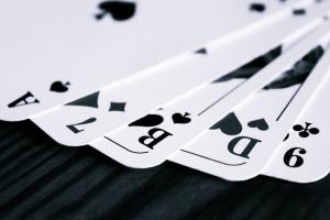 kaarten uit een kaartspel