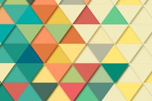 gekleurde driehoeken naast elkaar