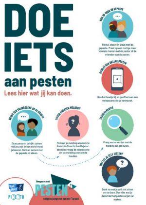 poster met tips tegen pesten