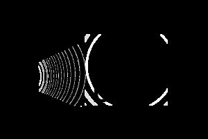 icoon van een oor met een hand die de oorschelp vergroot
