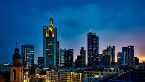 skyline van een grote stad