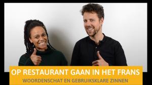 Twee lesgevers van BijlesHuis geven uitleg over op restaurant in het Frans