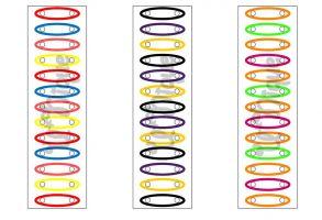 Werkblad kleuren en haarbandjes