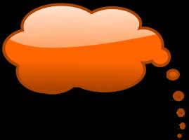 oranje tekstballon