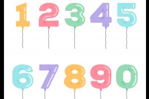 10 ballonnen cijfers