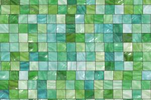 vierkanten in verschillende tinten groen