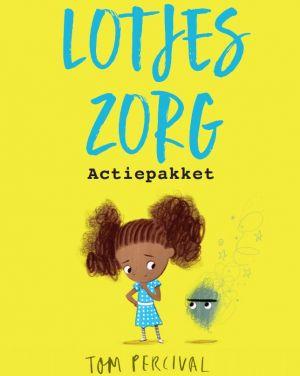 Kaft boek Lotjes zorg met een tekening van een meisje Lotje