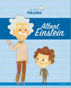 cover boek Kleine Helden, tekening Albert Einstein