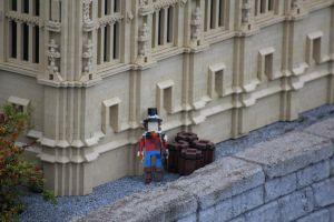 Miniatuur van Guy Fawkes aan the Houses of Parliament