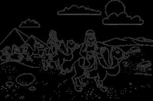 Abraham op een kameel