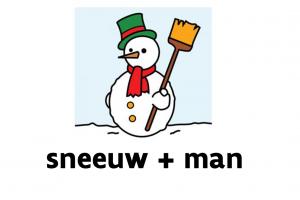 Sneeuwman : sneeuw+man