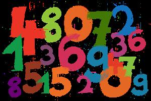 Gekleurde cijfers