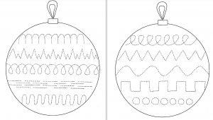 Kerstballen met schrijfpatronen