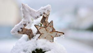 Kerststerren in hout