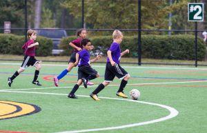 Voetballende jongeren