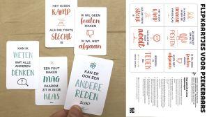 flipkaarten met helpende gedachten op