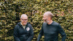 Paul Wauters en Koen Brandt van het Geluidshuis kijken elkaar aan