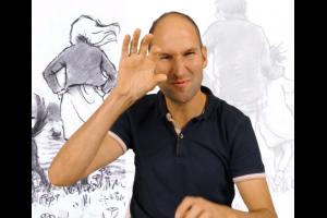 Meneer die gebarentaal doet, screenshot