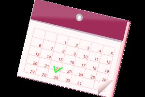 clipart van een maandkalender