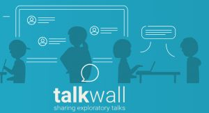 talkwall logo en illustratie