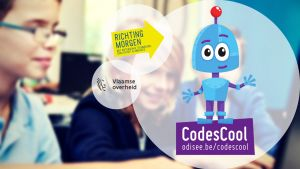 robot logo codescool