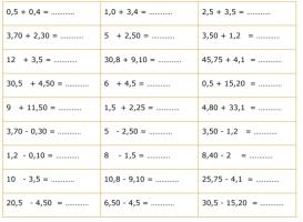 oefeningen hoofdrekenen met kommagetallen