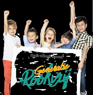Generatie Rookvrij schoolposter met leerlingen