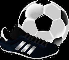 voetbal en voetbalschoen