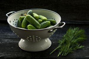 vergiet met komkommers